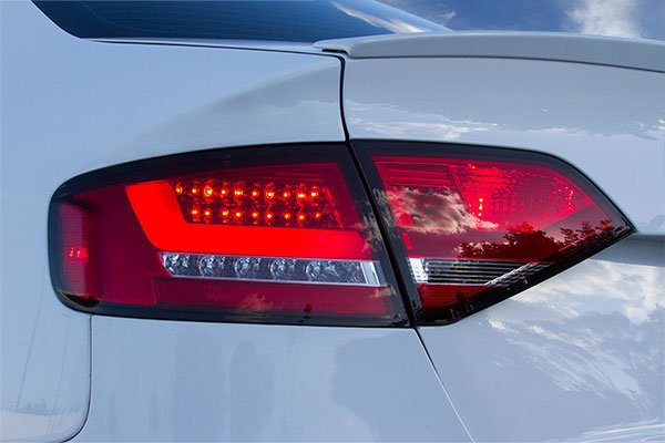spyder led tail lights audi a4 three quarter
