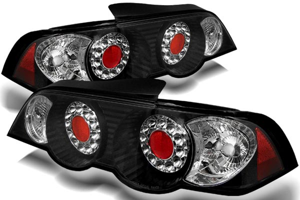 spyder led tail lights black