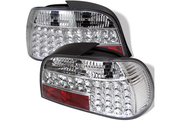 spyder led tail lights clear
