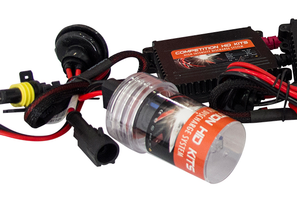 universal hid headlight kit close up