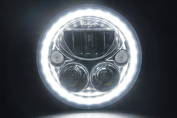 vision x 7 inch vortex led replacement headlights halo