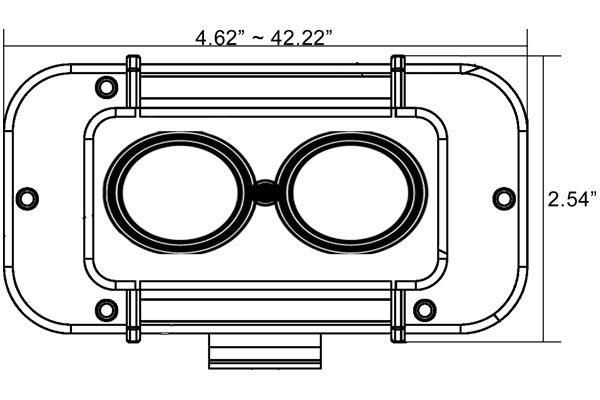 vision x evo single stack led light bars front dimensions