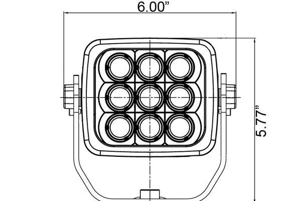 vision x explorer xtreme square led lights front dimensions