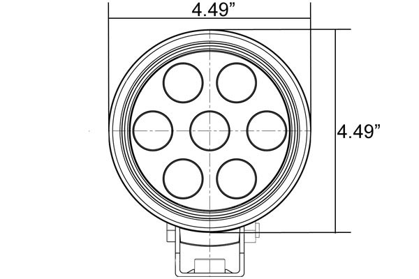 vision x utility market round led lights front dimensions