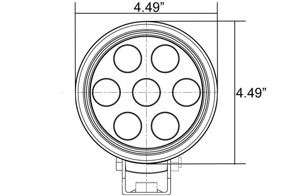 vision x utility market xtreme round led lights front dimensions