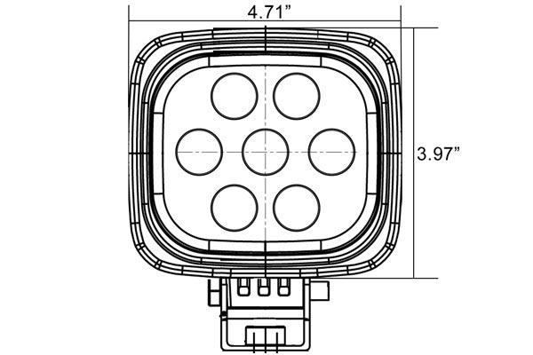 vision x utility market xtreme square led lights front dimensions