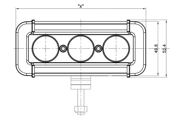 vision x xmitter low profile xtreme led light bars schematic front