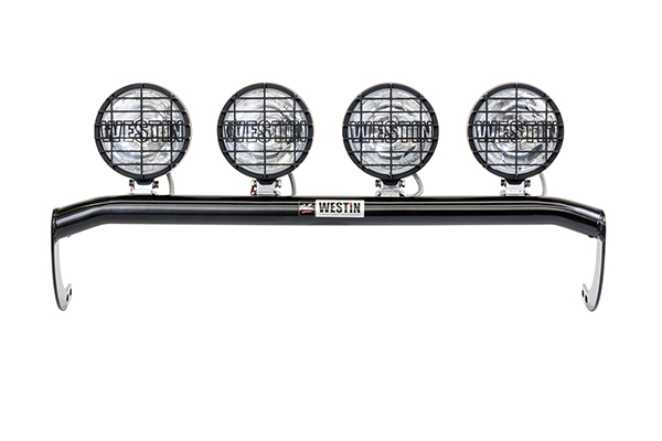 westin off road light bar with lights mounted
