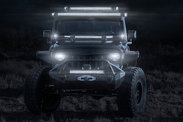 zroadz double row straight led light bar lifestyle 1