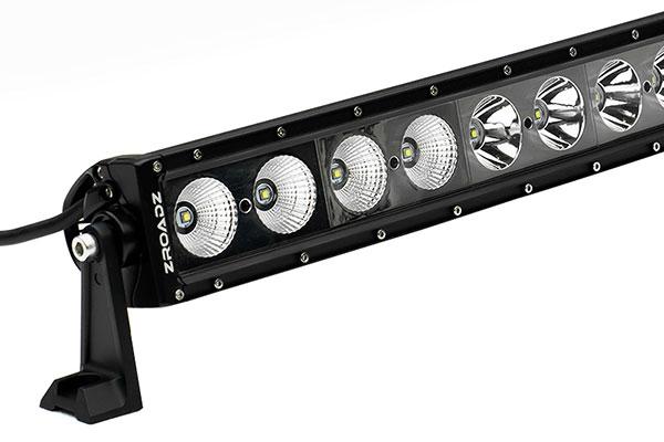 zroadz single row curved led light bar detail