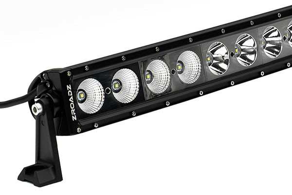 zroadz single row straight led light bar detail