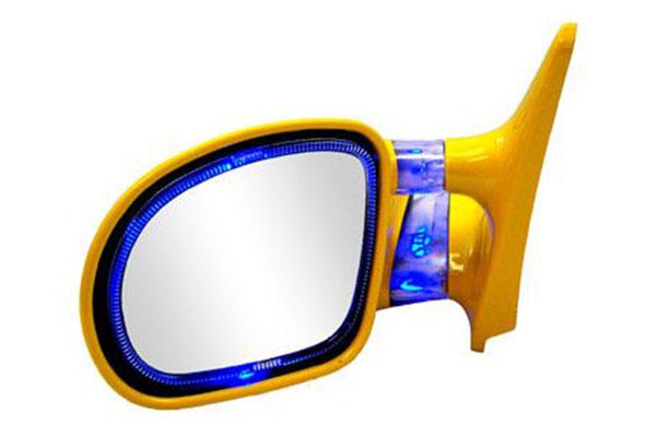 cipa blue yellow optic glow mirror