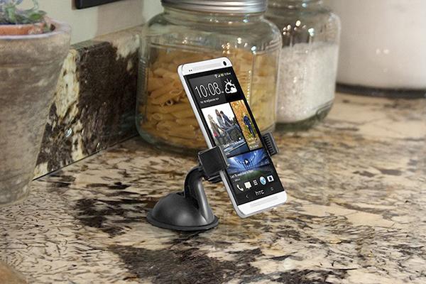 bracketron mi t grip smartphone dash mount in kitchen