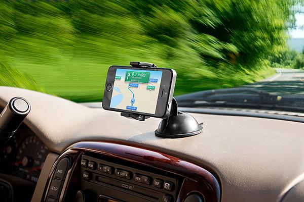 bracketron mi t grip smartphone dash mount on dash