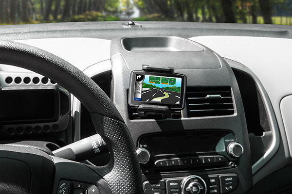 bracketron tekgrip vent mount in vent with gps