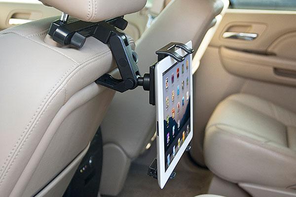 bracketron universal tablet headrest mount installed