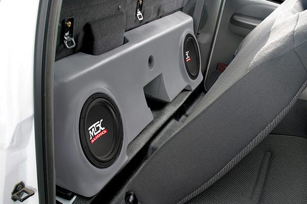 mtx thunderform subwoofer enclosure f250 reg cab