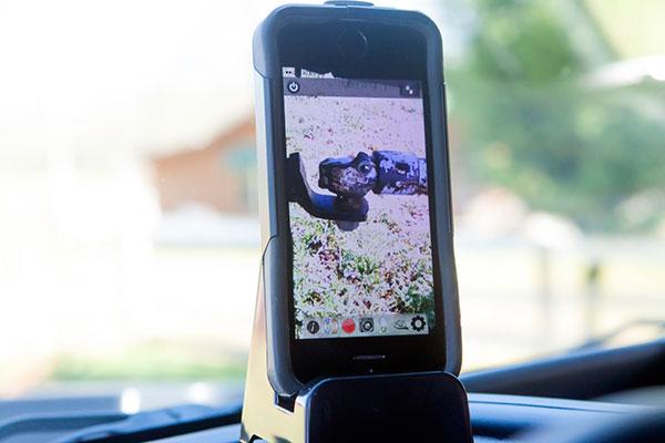 rampage back up camera phone