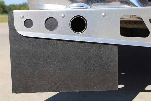 access rockstar hitch mounted mudflaps exhaust hole