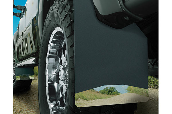 husky liners universal mud flaps installed