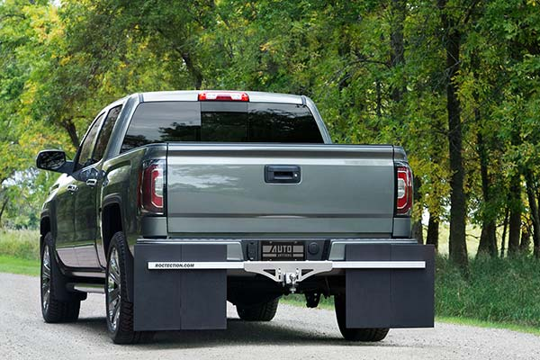rockstar roctection hitch mounted mud flaps lifestyle