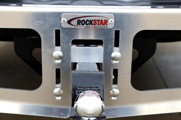 rockstar universal hitch mounted mud flaps clamping system