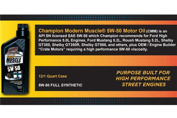 Champion 5w-50 Modern Muscle Oil Specs