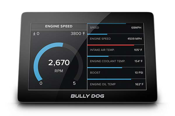 bully dog gtx watchdog performance monitor screen 2