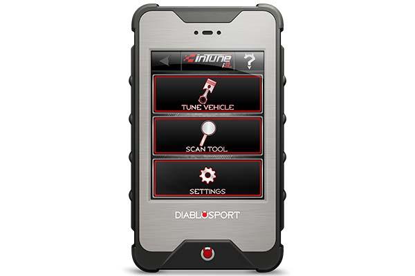 diablosport intune i3 main menu screen