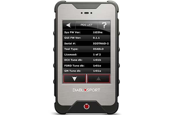 diablosport intune i3 pids menu list