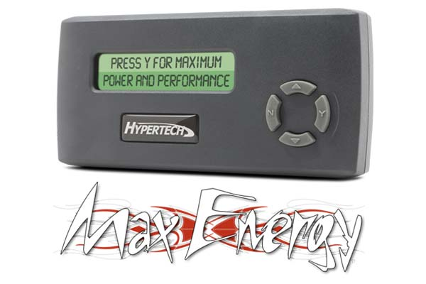 hypertech max energy main screen interface