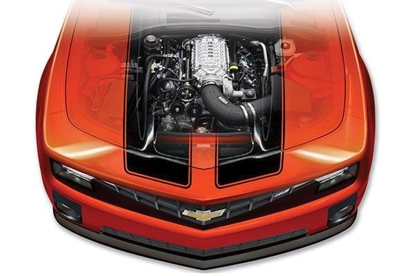 magna charger under hood