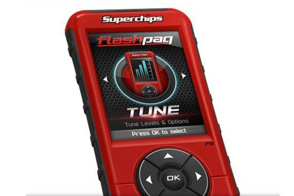 superchips flashpaq f5 tuner home screen