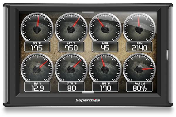 superchips traildash2 jeep tuner gauge screen