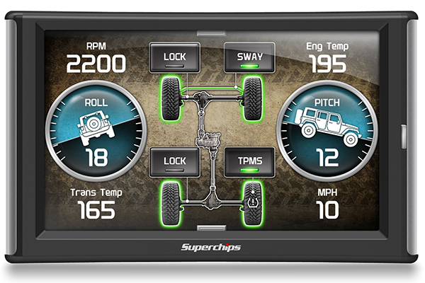 superchips traildash2 jeep tuner roll pitch