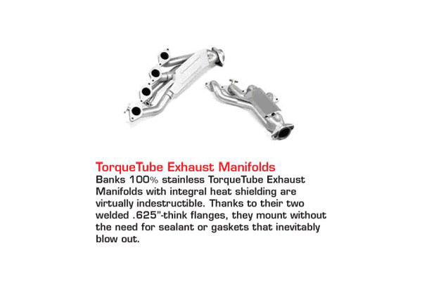 banks accessories torquetube exhaust manifolds