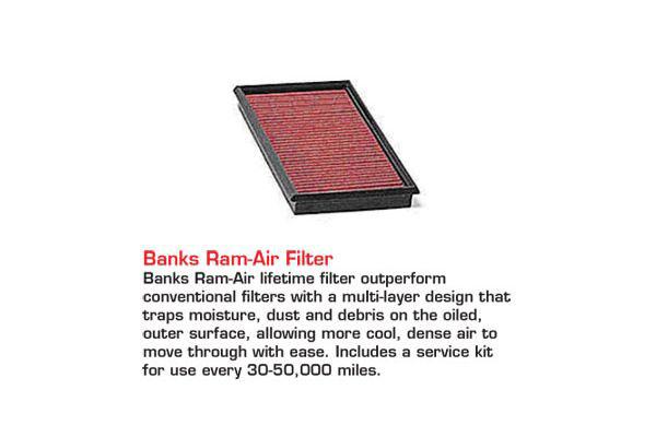 banks big hoss bundle accessories banks ram air filter