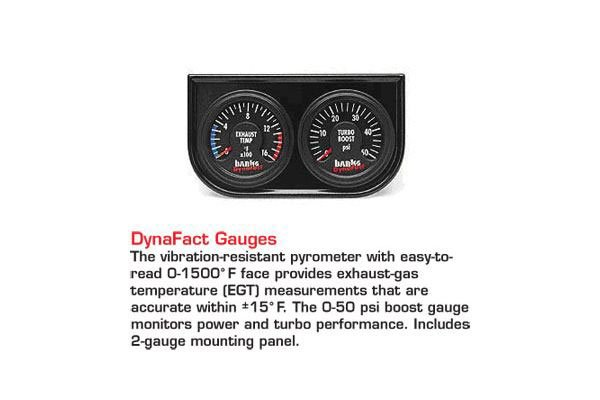 banks sidewinder turbo system accessories dynafact gauges