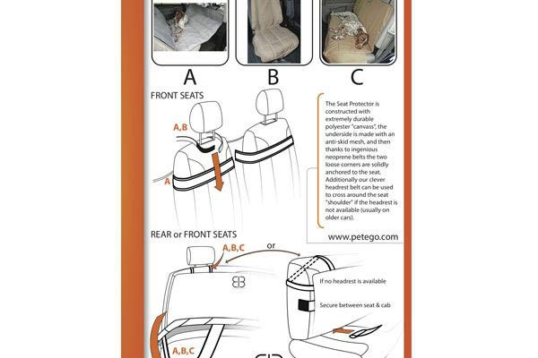 Motor Trend Hammock Seat Protector directions