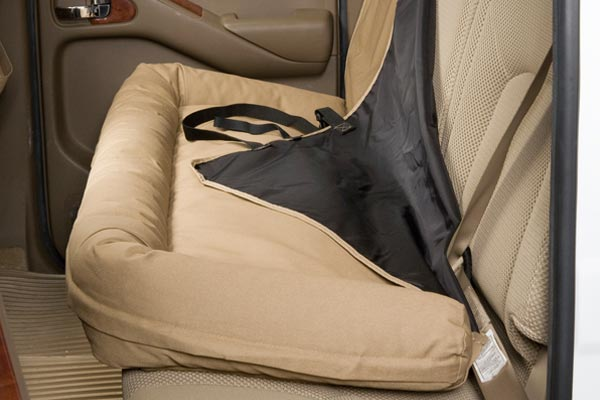 canine covers back seat dog bed hook loop