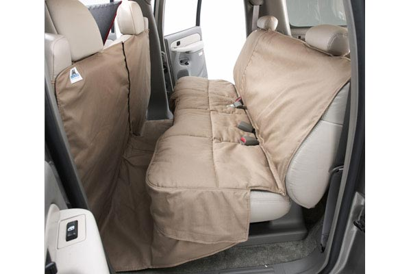 canine covers canvas coverall seat protector installed