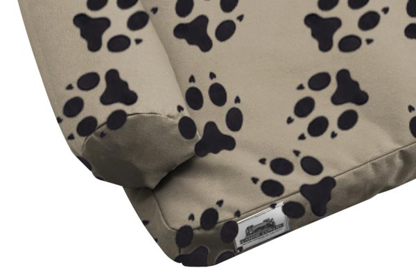 canine covers crypton paw print ultimate dog bed closeup