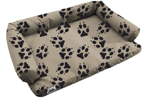 canine covers crypton paw print ultimate dog bed empty