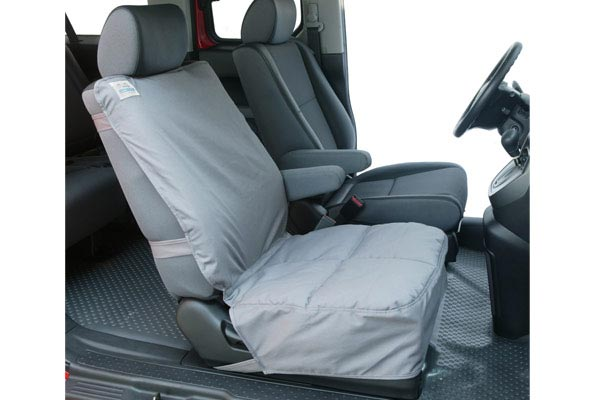 canine covers semi custom canvas bucket seat cover installed
