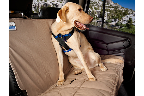 canine covers travel safe dog harness installed