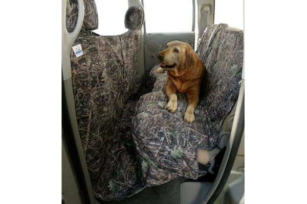 canine covers true timber camo canvas coverall seat protector installed
