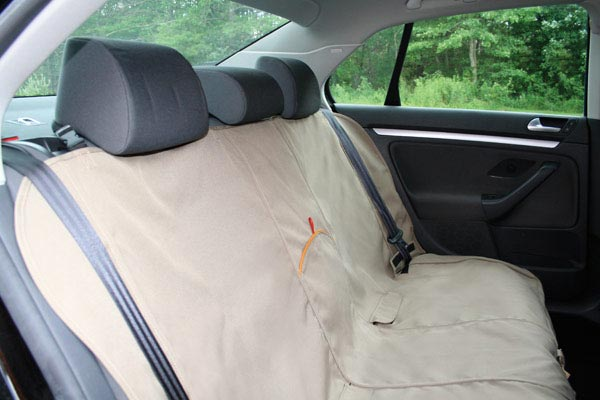 kurgo extended bench seat cover installed