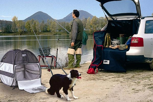 motor trend dog bag pet tent fishing
