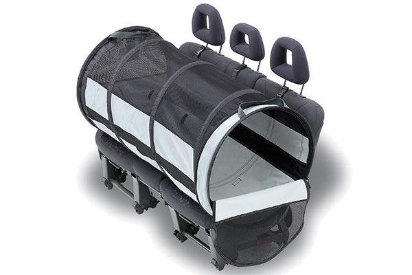 motor trend pet tube car kennel long backseat