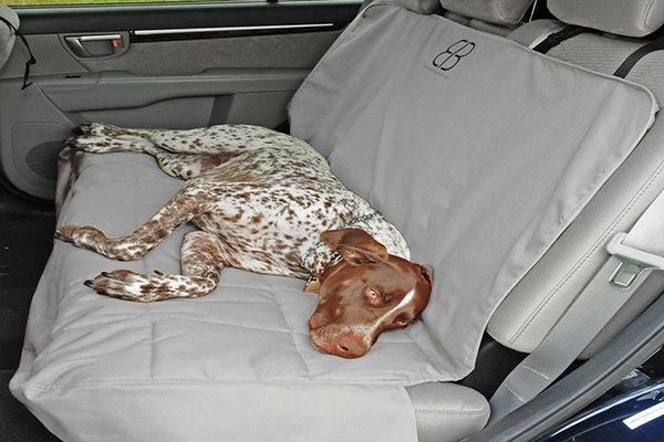 motor trend seat protector rear grey